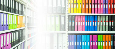 Shelf with Document file Stock Photography