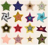 A shelf of fantastic stars stock illustration