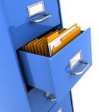 Shelf with folders. 3d illustration of office shelf with folders inside Stock Images