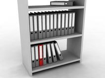 Shelf with folders. For documents Stock Images