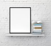 Shelf with frame Royalty Free Stock Image