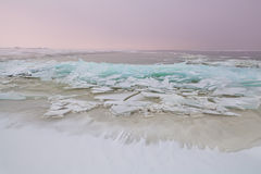 Shelf ice on North sea in winter Royalty Free Stock Image