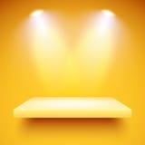Shelf lighting color Stock Images