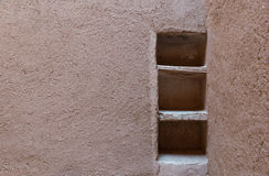 The shelf made from soil of Kasbah de Taourirt Royalty Free Stock Photo