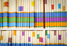 Shelf of Medical Files. Medical Files on Shelves in Office Setting Royalty Free Stock Photography