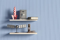 Shelf with objects Stock Photos