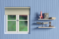 Shelf with objects Royalty Free Stock Photo