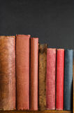 Shelf of Old Vintage Books Royalty Free Stock Photos