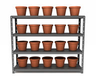 Shelf of pots Stock Photography