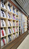 Shelf with shirts Royalty Free Stock Photo
