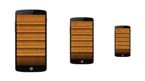 Shelf on the smartphone Stock Images