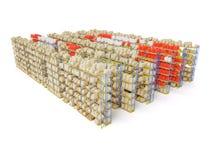 Shelf storage Royalty Free Stock Images