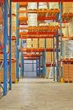 Shelf in storehouse Stock Image