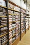 Supermarket shelf Royalty Free Stock Images