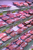 Shelf swith meat Royalty Free Stock Images
