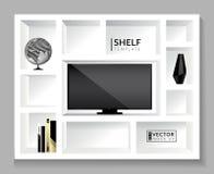 Shelf template. Vector mock up. EPS 10 Stock Image