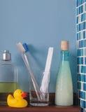 Shelf with toiletries Stock Image
