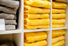 Shelf with a towels Royalty Free Stock Image