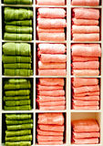 Shelf with a towels Stock Image