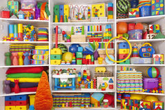 Shelf with toys Royalty Free Stock Image