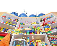 Shelf with toys Royalty Free Stock Images