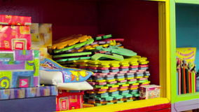 Shelf with toys stock footage
