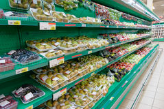 Shelf with vegetables, TM's removed Stock Images