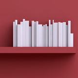 Shelf on the wall with books or magazines. Royalty Free Stock Photography