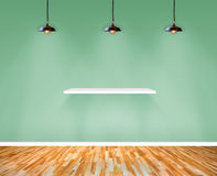 Shelf on wall in Show Room. Royalty Free Stock Image