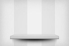 Shelf on the wall white texture Royalty Free Stock Photo