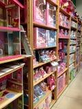 Shelfs avec des jouets Images stock