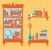 Shelfs del libro Fotografia Stock