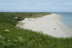 Shell échouent sur l'île du Herm images stock
