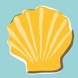 Shell achtergrond (vector) stock illustratie