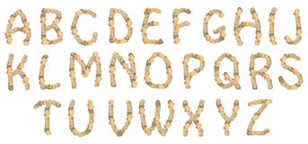Shell alphabet Stock Photo