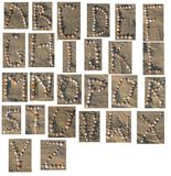 Shell-Alphabet  Stockbilder