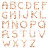 Shell alphabet Royalty Free Stock Image