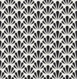 Shell Art Deco Pattern sans couture Fond antique élégant illustration de vecteur