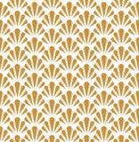 Shell Art Deco Pattern sans couture Fond antique élégant illustration stock