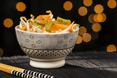 Asian vegetables and chopsticks Royalty Free Stock Images