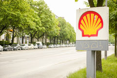 Shell assina imagens de stock royalty free