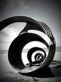 Shell auf Cleveleys setzen auf den Strand Stockfotografie