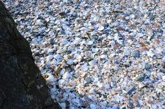 Shell beach at Peel, Isle of Man Royalty Free Stock Image