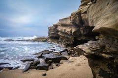 Shell beach waves Stock Image