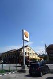 Shell bensinstation på en solig dag Royaltyfria Foton