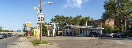 Shell benzynowa stacja (Montreal) obraz royalty free