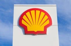 Shell benzynowej staci znak Obrazy Stock