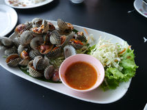 Shell Boil. Seafood, Thai Food royalty free stock photography