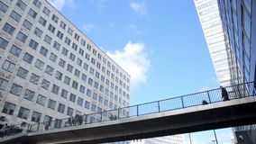 Shell building with elevated crossover stock footage