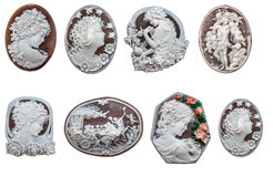 Shell Cameos. Multiple Shell Cameos from Pompei Stock Photo